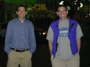 Hubby and his twin brother, the DR.